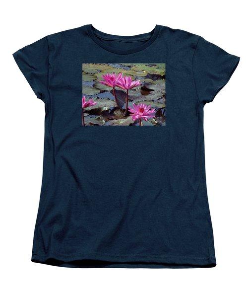Lotus Flower Women's T-Shirt (Standard Cut) by Sergey Lukashin