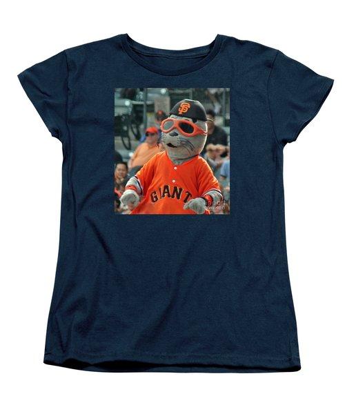 Lou Seal San Francisco Giants Mascot Women's T-Shirt (Standard Cut)