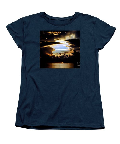 Women's T-Shirt (Standard Cut) featuring the photograph Louisiana Sunset Blue In The Gulf  Of Mexico by Michael Hoard