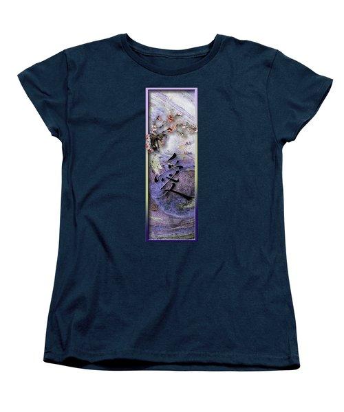 Love Ink Brush Calligraphy Women's T-Shirt (Standard Cut) by Peter v Quenter