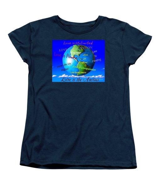 Women's T-Shirt (Standard Cut) featuring the digital art Love Is. . . . by Bobbee Rickard