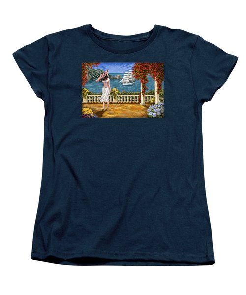 Women's T-Shirt (Standard Cut) featuring the painting Love Is Coming Home by Tim Gilliland