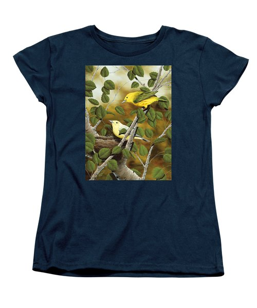 Love Nest Women's T-Shirt (Standard Cut) by Rick Bainbridge