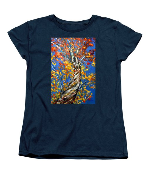 Women's T-Shirt (Standard Cut) featuring the painting Love That Reaches by Meaghan Troup