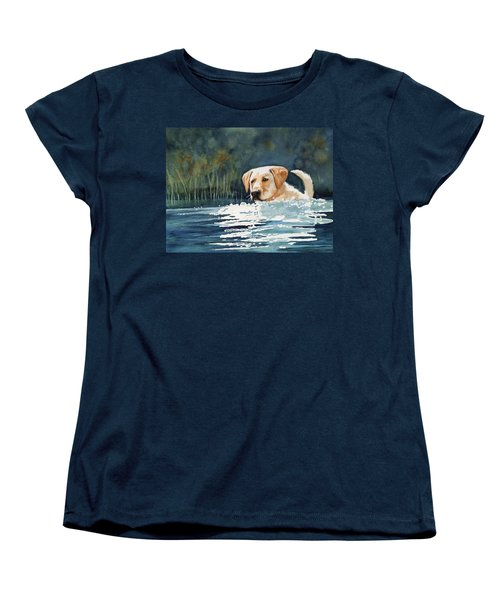 Loves The Water Women's T-Shirt (Standard Cut) by Marilyn Jacobson