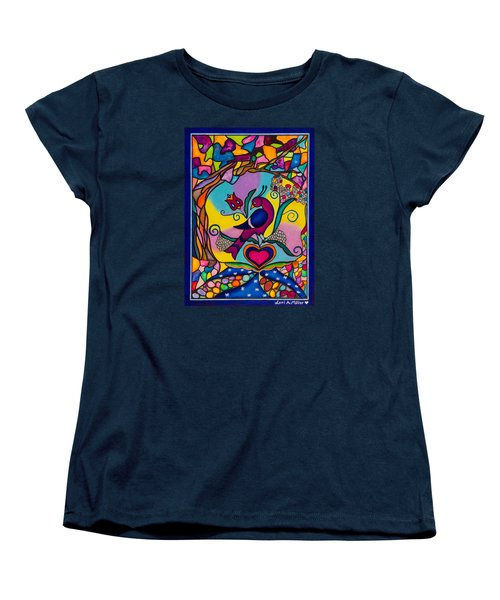 Women's T-Shirt (Standard Cut) featuring the painting Loving The World by Lori Miller