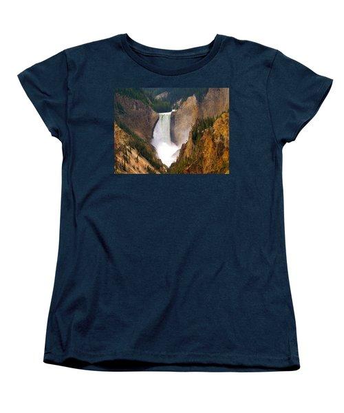 Women's T-Shirt (Standard Cut) featuring the photograph Lower Yellowstone Falls by Eric Tressler
