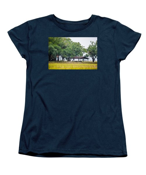 Lowland Picnic Place  Women's T-Shirt (Standard Cut) by Mary Ward