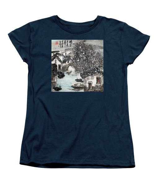Lucky Snow  Women's T-Shirt (Standard Cut) by Yufeng Wang