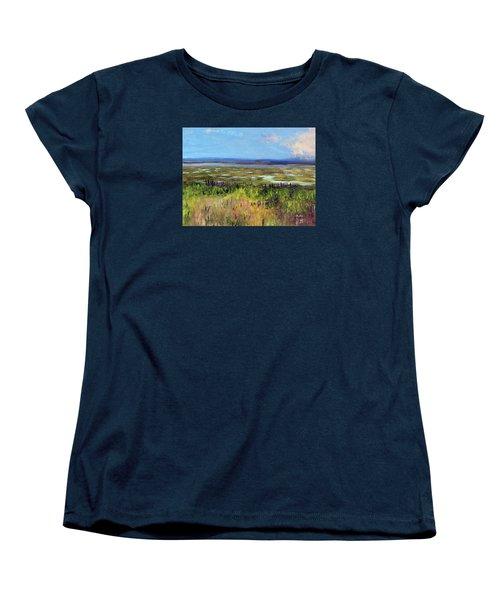 Lupine Of Fort Hill Women's T-Shirt (Standard Cut) by Michael Helfen