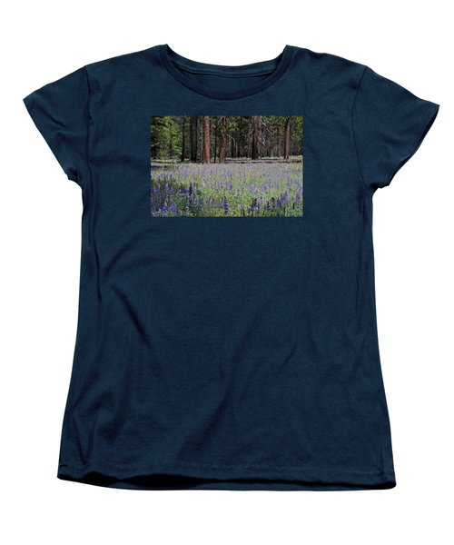 Women's T-Shirt (Standard Cut) featuring the photograph Lupines In Yosemite Valley by Lynn Bauer