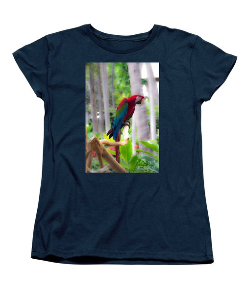 Women's T-Shirt (Standard Cut) featuring the photograph Macaw by Angela DeFrias