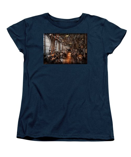Machinist - A Fully Functioning Machine Shop  Women's T-Shirt (Standard Cut) by Mike Savad