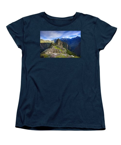 Machu Picchu Women's T-Shirt (Standard Cut) by Alexey Stiop