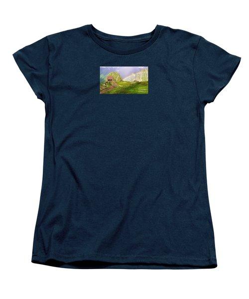 Machu Picchu Rainbow Women's T-Shirt (Standard Cut) by Michele Penner
