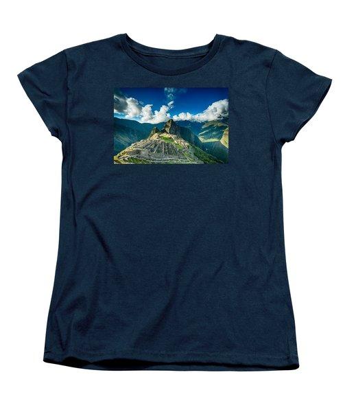 Machu Picchu Women's T-Shirt (Standard Cut) by Ulrich Schade