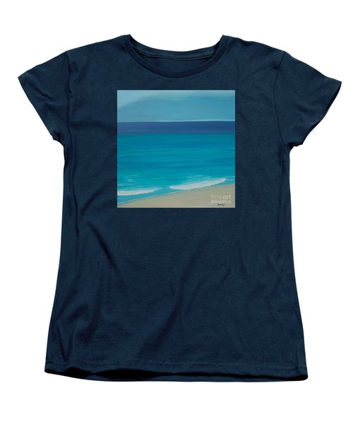 Women's T-Shirt (Standard Cut) featuring the painting Madagascar by Mini Arora