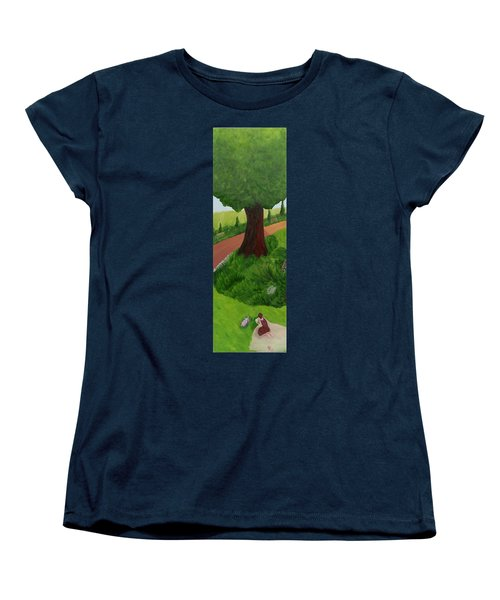 Madame Reading Women's T-Shirt (Standard Cut) by Mark Minier