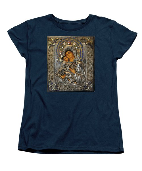 Madonna And Child Women's T-Shirt (Standard Cut) by Jay Milo
