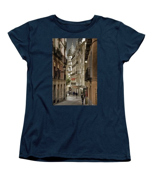 Madrid Streets Women's T-Shirt (Standard Cut) by Joan Carroll