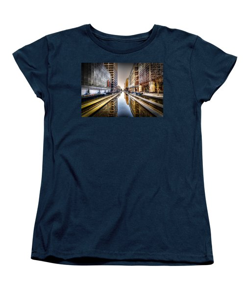 Main Street Square Women's T-Shirt (Standard Cut) by David Morefield