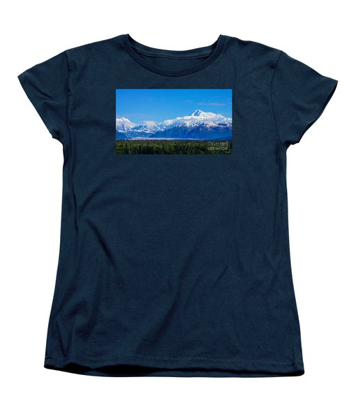 Majestic Mt Mckinley Women's T-Shirt (Standard Cut) by Jennifer White