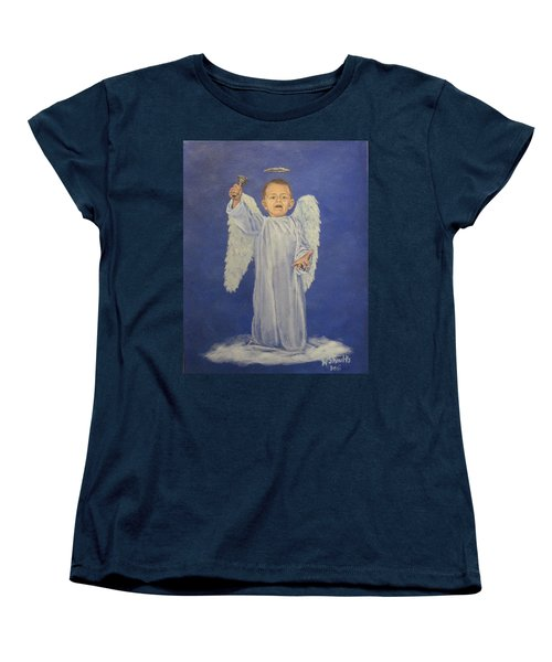 Women's T-Shirt (Standard Cut) featuring the painting Make A Joyful Noise by Wendy Shoults