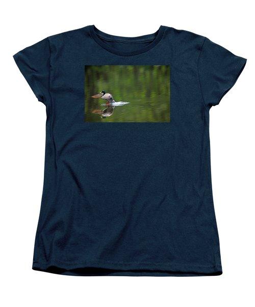 Mallard Splash Down Women's T-Shirt (Standard Cut) by Karol Livote