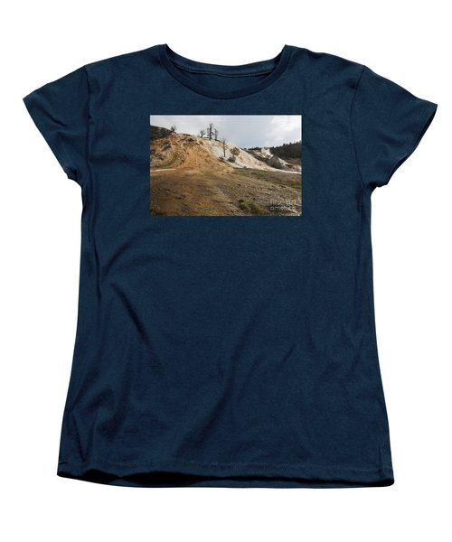 Mammoth Hot Springs Women's T-Shirt (Standard Cut) by Belinda Greb