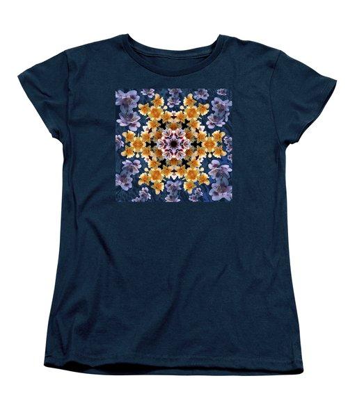 Mandala Alstro Women's T-Shirt (Standard Cut) by Nancy Griswold