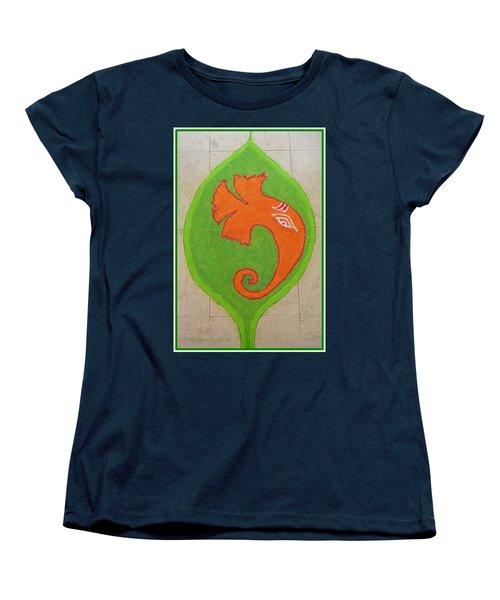 Mangalmurti Moraya Women's T-Shirt (Standard Cut) by Sonali Gangane