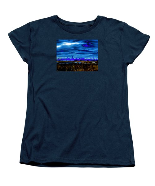 Women's T-Shirt (Standard Cut) featuring the photograph Manhattan Project by Michael Nowotny