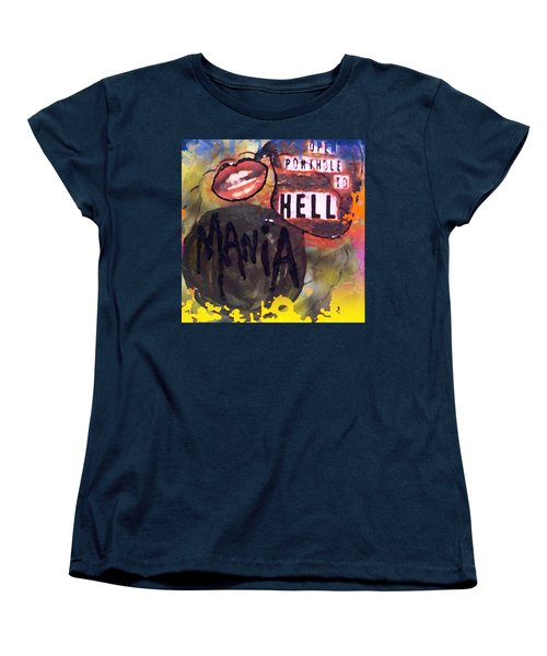 Women's T-Shirt (Standard Cut) featuring the digital art Mania by Lisa Piper