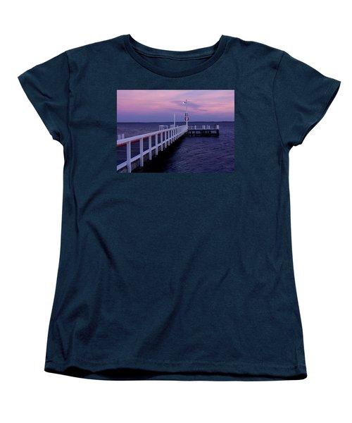 Manns Beach Jetty Women's T-Shirt (Standard Cut) by Evelyn Tambour