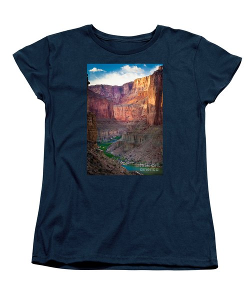 Marble Cliffs Women's T-Shirt (Standard Cut) by Inge Johnsson