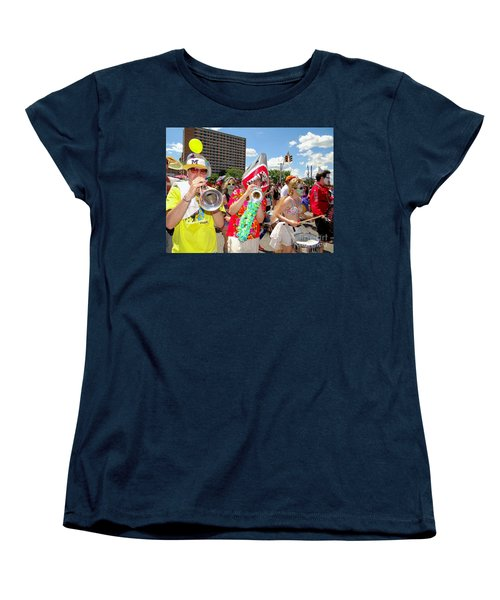 Women's T-Shirt (Standard Cut) featuring the photograph Marching Band by Ed Weidman