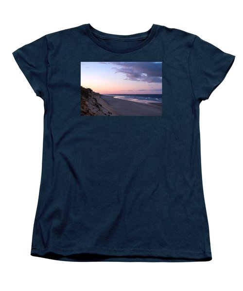 Marconi Beach At Dusk Women's T-Shirt (Standard Cut) by Brian Caldwell