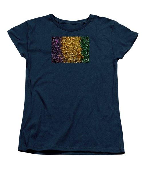Mardi Gras Beads - New Orleans La Women's T-Shirt (Standard Cut) by Deborah Lacoste