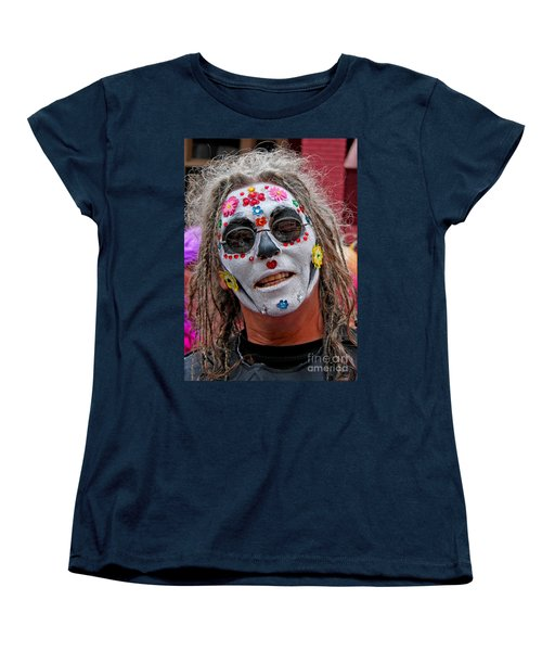 Mardi Gras Happy Face Women's T-Shirt (Standard Cut) by Luana K Perez