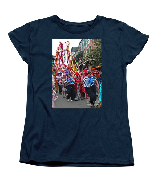 Women's T-Shirt (Standard Cut) featuring the photograph Mardi Gras In New Orleans by Luana K Perez