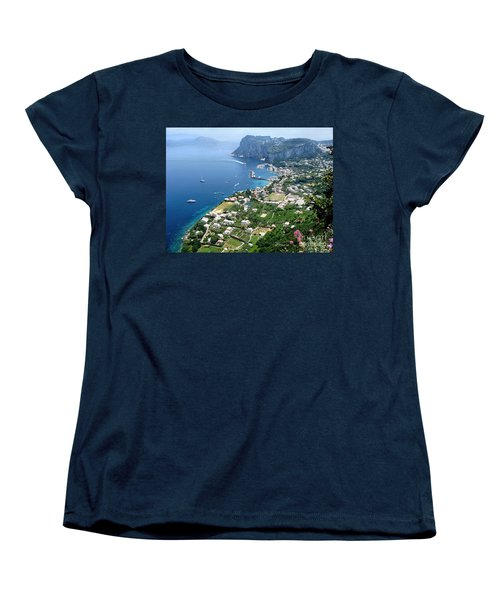 Marina Grande Anacapri Women's T-Shirt (Standard Cut) by Jennie Breeze