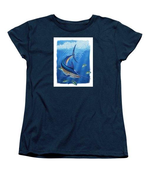Marlin Women's T-Shirt (Standard Cut) by Scott Ross