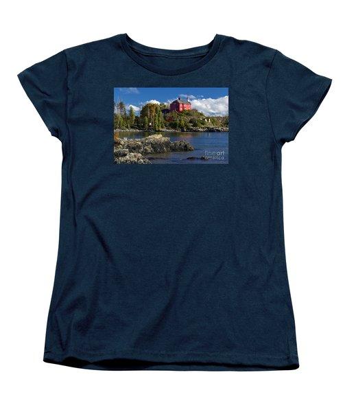 Marquette Harbor Light - D003224 Women's T-Shirt (Standard Cut) by Daniel Dempster