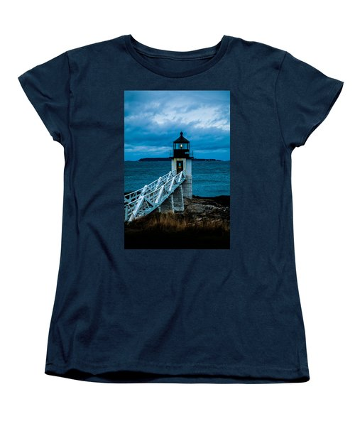 Marshall Point Light At Dusk 1 Women's T-Shirt (Standard Cut)