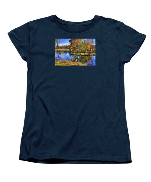Maryland Country Roads - Autumn Respite No. 1 - Stronghold Sugarloaf Mountain Frederick County Md Women's T-Shirt (Standard Cut) by Michael Mazaika
