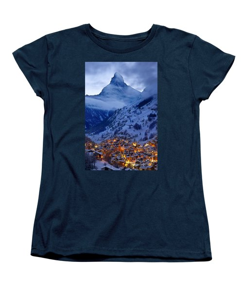 Matterhorn At Twilight Women's T-Shirt (Standard Cut) by Brian Jannsen