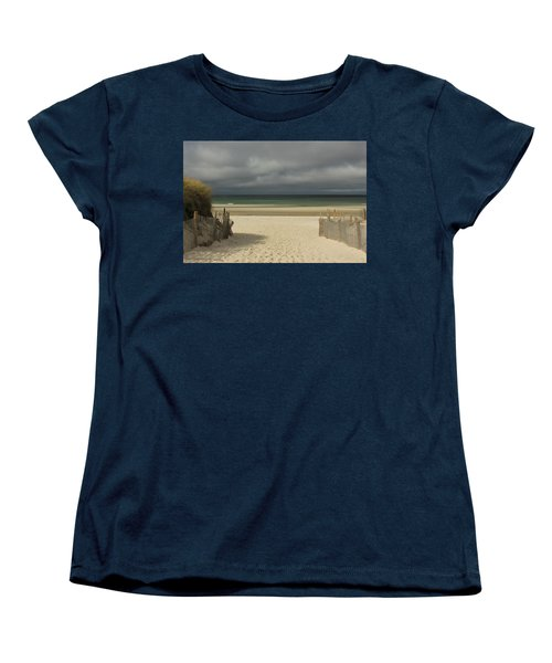 Mayflower Beach Storm Women's T-Shirt (Standard Cut) by Amazing Jules