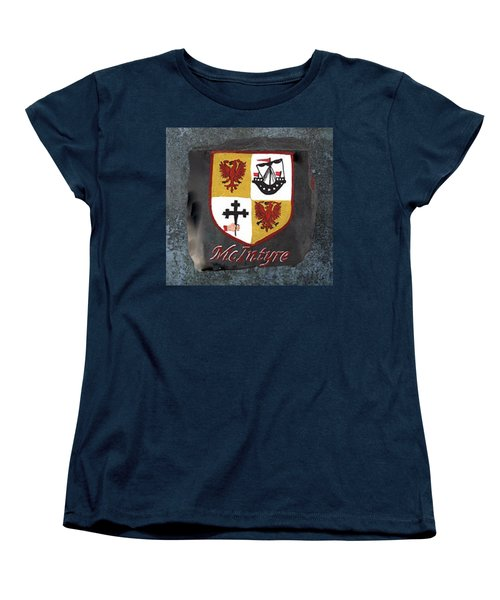Women's T-Shirt (Standard Cut) featuring the painting Mcintyre Coat Of Arms by Barbara McDevitt