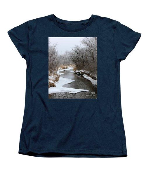 Meandering Geese Women's T-Shirt (Standard Cut) by Debbie Hart
