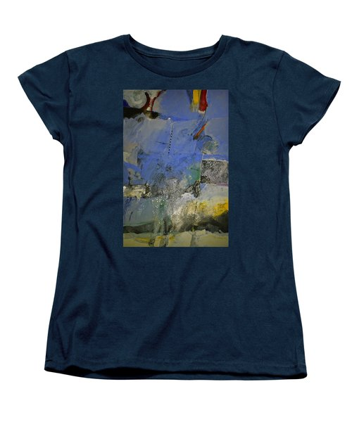 Women's T-Shirt (Standard Cut) featuring the painting Meatier Illogical Cold Front by Cliff Spohn